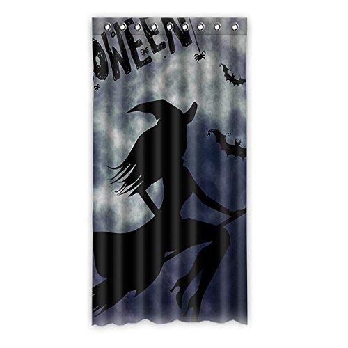 Brauch Halloween Witch Halloween-Hexe Fenster Vorhang Window Curtain Licht Beweis Polyester Fabrik für Schlafzimmer oder Wohnzimmer 127 Zentimeters x 244 Zentimeters (ein Stück)
