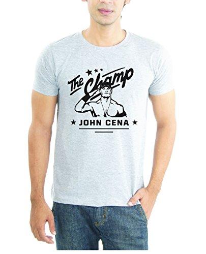 LaCrafters Mens Tshirt - John Cena tshirts The Champ WWE tshirts_Grey