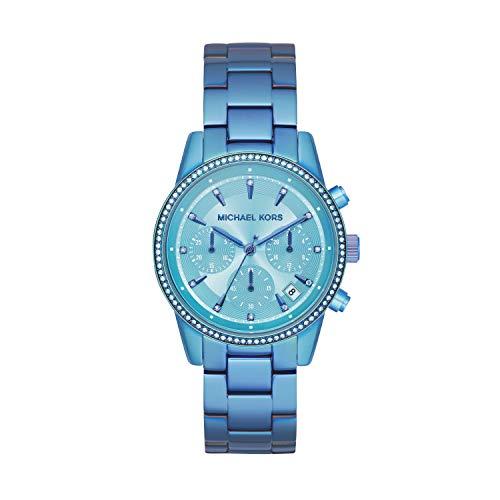 Michael Kors Damen Chronograph Quarz Uhr mit Edelstahl Armband MK6684