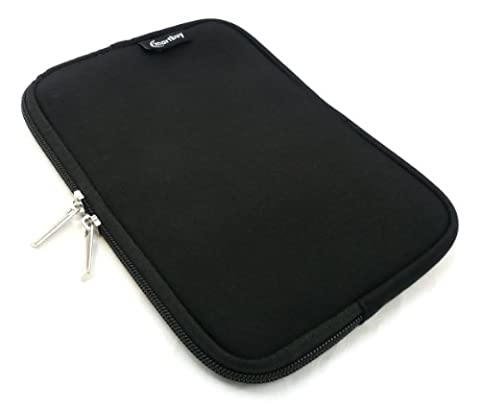 Emartbuy Water Resistant Neoprene Soft Zip Case/Cover/Sleeve/Pouch for Apple iPad Mini 2/3/4 Tablet - Black