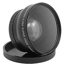 CamRepublic 58 mm 0, 45X con gran angular de objetivo para Canon EFS 18-55mm EFS 55 - 250 millimeter EF 70 - 300 millimeter EF 50 mm, NIKKOR Nikon AF-S 50 mm f/1,8 G Nikon AF-S NIKKOR 50 mm f/1,4 G AF -S DX NIKKOR 55 300 millimeter F4,5 - -  5,6 G ED VR objetivo