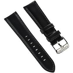 Lotus Bracelet de Montre bracelet de sport Matière Cuir Noir pour Lotus L15844, L15843Montres