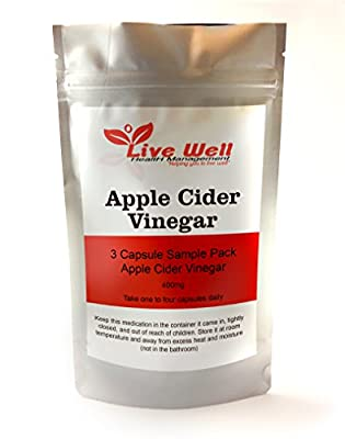Live Well Apple Cider Vinegar Capsules,weight loss,cholesterol by Live Well