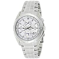 Casio Mens Quartz Watch, Analog Display and Stainless Steel Strap EF-328D-7AV