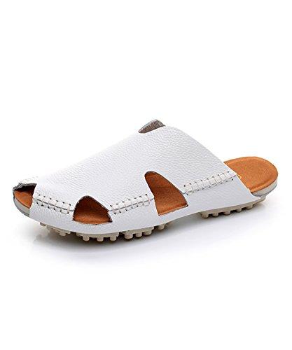 CHAOXIANG Pantofole Piatte Flip Flop Antiscivolo Clogs delle donne Sandali Da Surf Nuovo Calzature Da Spiaggia Estiva ( Colore : Rosso , dimensioni : EU41/UK8/CN42 ) Bianca