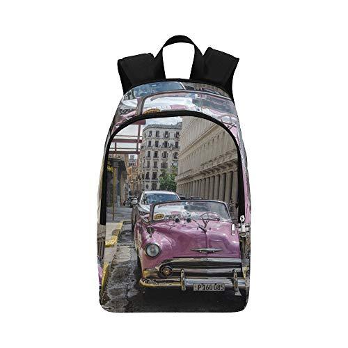 EIN amerikanischer Oldtimer Casual Daypack Reisetasche College School Rucksack für Männer und Frauen