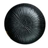 Unbekannt Teller Platten-Ausgangskeramik nordische kreative prägte Teller-Teigwarenteller-Frühstücksplatte Steakplattediskettengeschirrgeschenke (Color : Black, Size : 22 * 22 * 5.5cm)