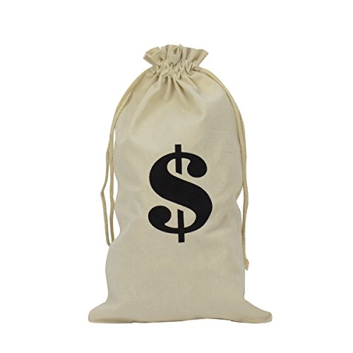Spardose aus Stoff, Motiv Dollar, Kostüm, Accessoire, Film, Spielen, Theater-Requisite, Weiß