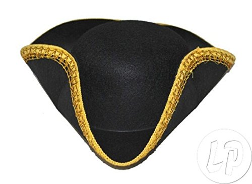 Lot / Set von 3 Stück - tricorn Hut Goldflechte Kind (Tricorn Hut)