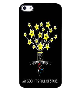 ColourCraft Funny Image with Quote Design Back Case Cover for APPLE IPHONE 4S