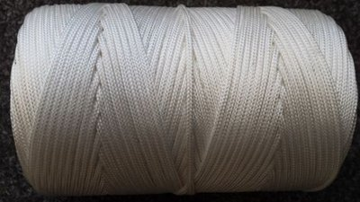 More Than Just Ropes 2mm White Nylon Braided Cord (Twine)
