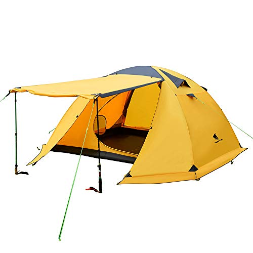 GEERTOP 4-Person 4-Season Large Family Impermeable Tienda de Mochilero Ligero para Acampar...