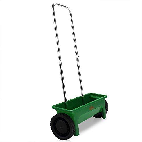 Streuwagen | Modellauswahl | 12L | 50cm Streubreite | praktische Abstellfüße - Saatgutstreuer Düngerstreuer für Salz Dünger Rasen Split Saatgut Streuer