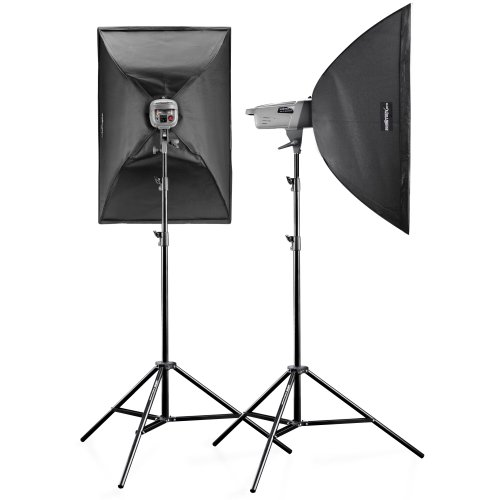 walimex pro VE-150 XL Excellence Studio Set with Studio Flash, Softbox, Light Stands and Trigger