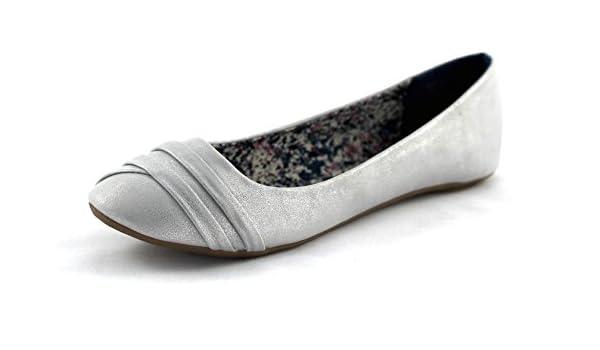 Jane Klain Damen Ballerina silber grau: : Schuhe