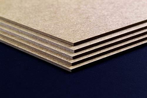MDF Holzplatte Werkstoff 25 x 35 cm Baumaterial Hobbygebrauch Dekoration Größenwahl 35 x 25 cm Hier: Braun | 5 Stck
