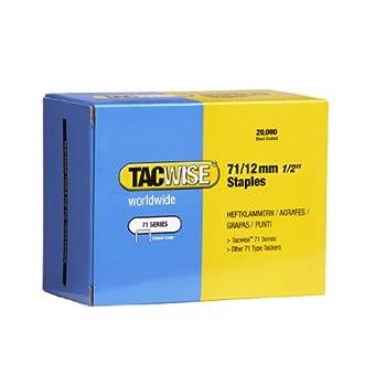 Tacwise 0370 Boîte de 20000 Agrafes galvanisées 12 mm Type 71