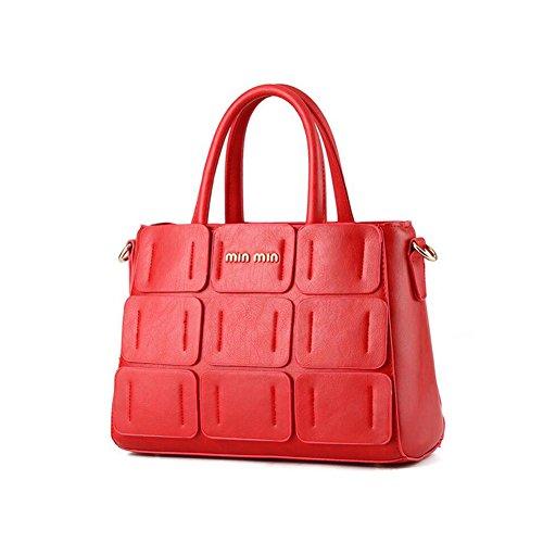 Beatayang Damen Elegant Schultertasche Handtasche Rot2