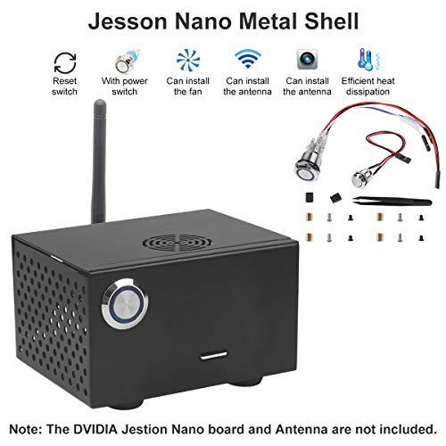 Nano Metal Case Enclosure with Power and Reset Control Switch for NVIDIA  Jetson Nano Development Kit, Retaining the Installation Space for GPIO  Cable