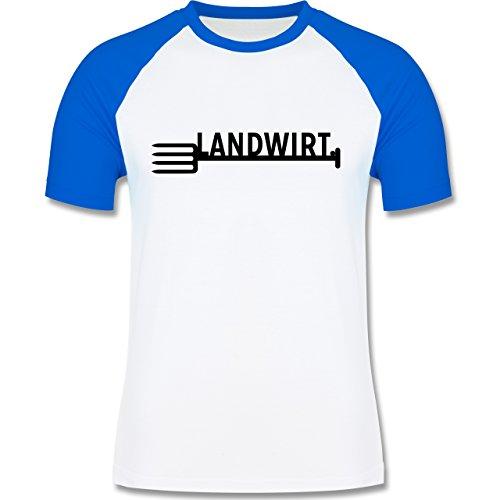 Landwirt - Landwirt - zweifarbiges Baseballshirt für Männer Weiß/Royalblau