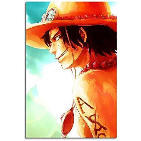 Lienzo 90 x 60 cm imagen como va a haber Ace_One_Piece_ marco como cuadro con lienzo en bastidor - imágenes y Kunstdrucke XXL