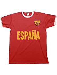 Buzz Shirts Mens Espana Spain Name Ringer Retro T-Shirt Camiseta para  Hombre Sports Football 98aaee3ca03fa