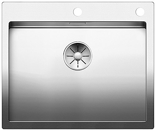 Blanco Claron 550-IF/A, Spülbecken mit Batteriebank, Küchenspüle, für normalen und flächenbündigen Einbau, InFino-Auslauf, Edelstahl Seidenglanz; 521639