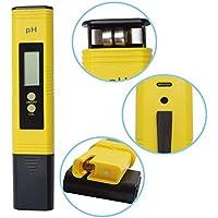 FANPING 0,01 medidor de pH de la Resolución Digital LCD de Gran tamaño Pluma del Agua de Calidad Verificador, la función de calibración automática y 0,00-14,00 Rango de medición