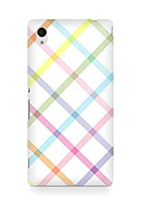 Amez designer printed 3d premium high quality back case cover for Sony Xperia M4 (lines colours)