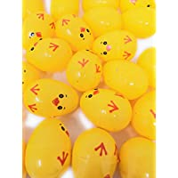 You Love a Bargain - 48 Easter Filler Fillable Eggs, Yellow Chick Design, Each Egg: 6x4cm, Will Hold Creme Egg