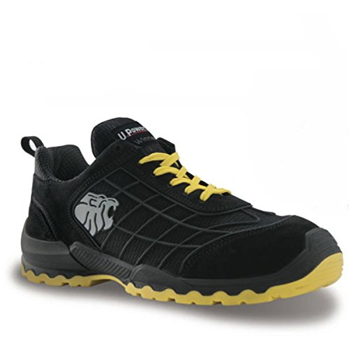 Upower Chaussures de Sécurité Time S1P SRC Noir et jaune