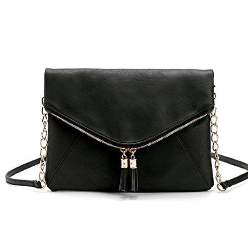2017 Borse donna Kangrunmy Le donne del sacchetto di spalla del Tote della cartella Hobo Messenger Bag Nero