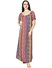 52ab06f5c3 Patrorna Women s Shift Maternity Nighty Night Dress Gown in Abstract Print (Size  S-7XL