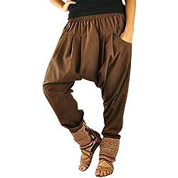 Talla única ropa hippie para hombres y mujeres, pantalones bombachos hombre y mujer en algodón con tejidos tradicionales y cómoda cintura elástica - Verbunden