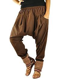 virblatt pantalones cagados mujer como ropa etnica para una moda hippie en talla única pantalones harem