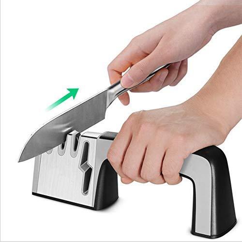 Alaojie Professional Knives Sharpener 4 In 1 Cutter Scissor Sharpening Tool for All Sized Knives Edge Scissors Sharpener