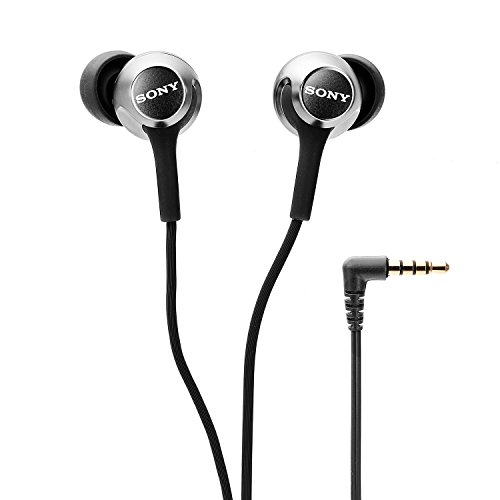 Sony MDR-EX255AP in-Ear Headphones with Mic (Black)