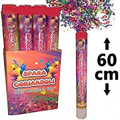 Idea Regalo - Palucart 12 sparacoriandoli spara coriandoli 0251 Party Popper 60cm Multi Color Cannone sparacoriandoli Colorati