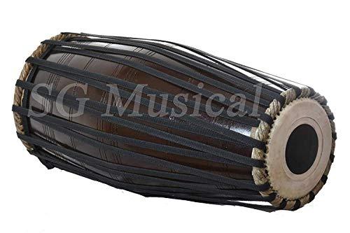 Musical South Indian Tenor Dark Mridangam, Strap Tuned, dholak