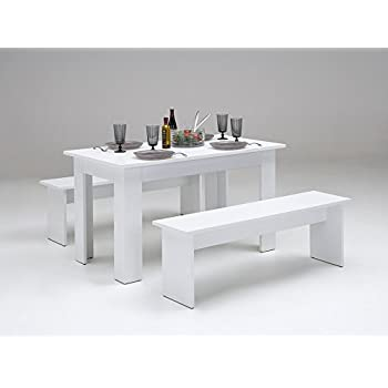 tischgruppe mit bank esstisch esszimmer tisch k chentisch. Black Bedroom Furniture Sets. Home Design Ideas