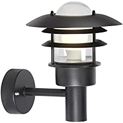 Nordlux Lonstrup–Lámpara de techo y pared Cultivo 22, negro 71431003