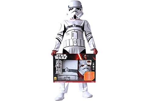Star Wars Stormtrooper Kinder Karneval Kostüm 7 - 8 Jahre (Wars Kostüm Star Rebels Stormtrooper)