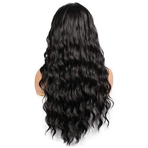 Neue Weibliche langen Körper wellenförmige Perücke hitzebeständige synthetische Frauen schwarze Perücken, natürliches Schwarzes, 28inches (Queen Elizabeth Rote Haare)