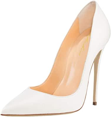 Lutalica, scarpe da donna in pelle verniciata con punta a punta, sexy, tacco a spillo