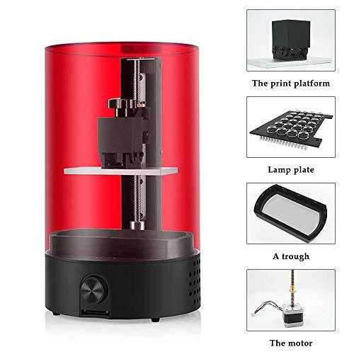 Fesjoy 3D Drucker, LCD Hohe Präzision 3D Drucker Tragbare Lichtempfindliche Harz SLA 3D Drucker für Zahnheilkunde Schmuck (Schmuck-drucker)