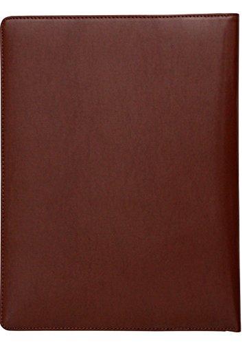 Konferenzmappe aus gemilltem Leder - Aktenmappe im DIN A4-Format - Braun