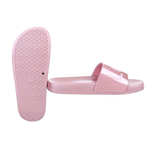 Rosa Sandali Donna Piatti Da Pantofole design Ital Scarpe AvwAq6