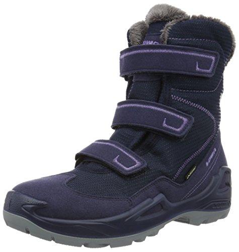 Lowa Milo Gtx Hi, Chaussures de Randonnée Hautes Mixte Enfant Bleu (navy/lila)