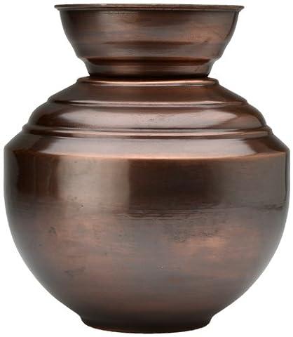 Bronze Indian Lota Vase/Planter, indoor/outdoor - 20cm height x 12cm