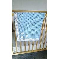 couverture bébé fait main bleu clair
